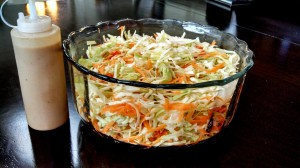 dressing and cabbage salad 2